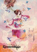 Elementals Air Base Card Art by Stacey Kardash by Pernastudios
