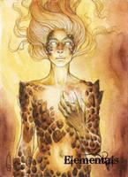 Elementals Sketch Card - Athina Konstantinidou 3 by Pernastudios