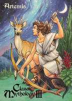 Artemis Base Card Art - Amy Clark by Pernastudios