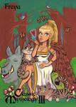 Freya Base Card Art - Danielle Gransaull by Pernastudios