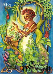 Aja Base Card Art - Hanie Mohd by Pernastudios