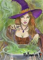 Hallowe'en 3 Sketch Card - Lisa Leblanc 2 by Pernastudios