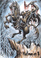Hallowe'en 3 Sketch Card - Anthony Tan 1 by Pernastudios