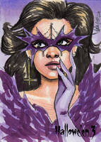 Hallowe'en 3 Sketch Card - Angelina Benedetti 2 by Pernastudios