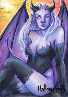 Hallowe'en 3 Sketch Card - Sha-Nee Williams 2 by Pernastudios