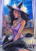 Hallowe'en Sketch Card - Sha-Nee Williams 1 by Pernastudios