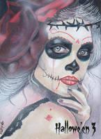 Hallowe'en 3 Sketch Card - Marcia Dye 1 by Pernastudios