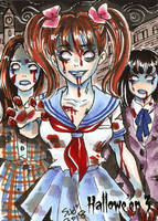 Hallowe'en 3 Sketch Card - Sanna Umemoto 3 by Pernastudios