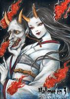 Hallowe'en 3 Sketch Card - Juri H. Chinchilla 3 by Pernastudios