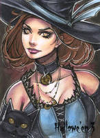 Hallowe'en 3 Sketch Card - Collette Turner 1 by Pernastudios