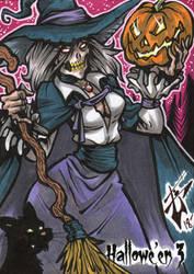 Hallowe'en 3 Sketch Card - Benjamin Glendenning 3 by Pernastudios