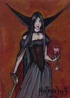 Hallowe'en 3 Sketch Card - Natasa Kourti 1 by Pernastudios