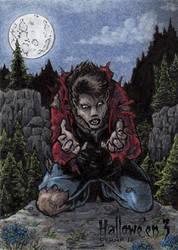 Hallowe'en 3 Sketch Card - Tony Perna 3 by Pernastudios