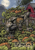 Pumpkin Patch Monster Base Card Art by Tony Perna by Pernastudios