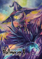 Scarecrow - Base Card Art by Helga Wojik by Pernastudios