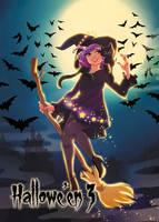 Witch - Base Card Art by Hanie Mohd by Pernastudios