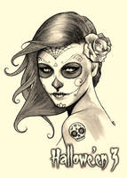 Day of the Dead - Metal Chase Art by Sean Pence by Pernastudios