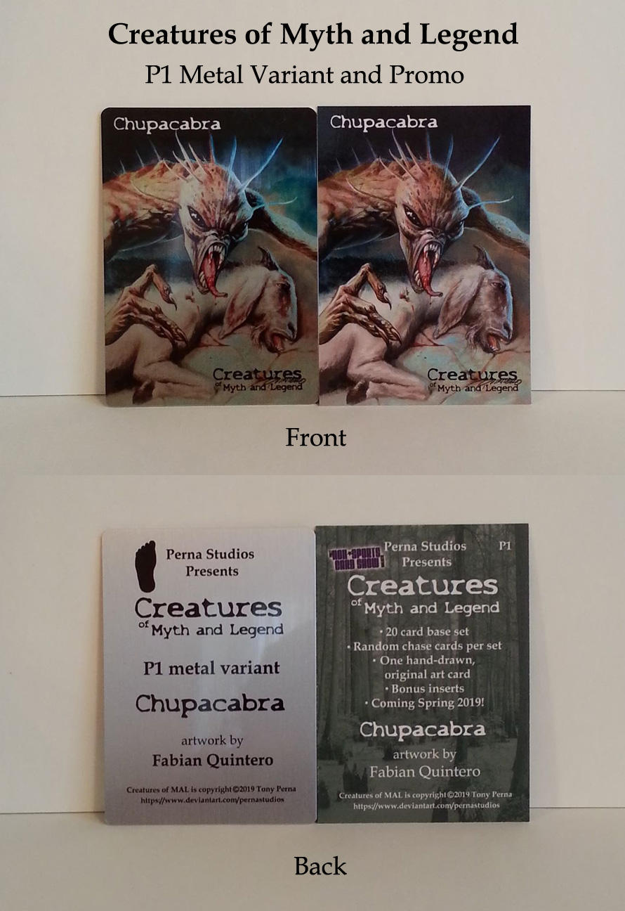 Chupacabra - Metal Variant and P1 Promo Card by Pernastudios