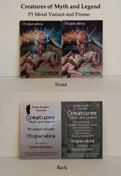 Chupacabra - Metal Variant and P1 Promo Card by Pernastudios