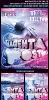 Magenta Poster Flyer Template by FlyerDzine