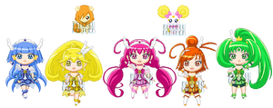 ChibiP: Smile Pretty Cure by SugarRoseDoll