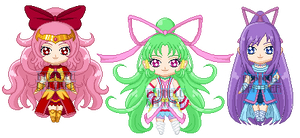 ChibiP: Legendary Cures by SugarRoseDoll