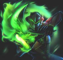 Genji from Overwatch by DziKawa