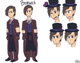 Brunwick ref sheet by SmolSilverBean