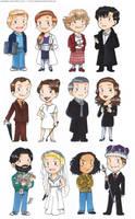 BBC Sherlock chibis by akabeko