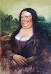 Fat Mona Lisa by Boban-Savic-Geto