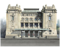 The National Theatre building, Belgrade by Boban-Savic-Geto