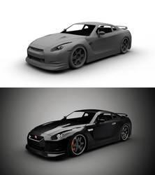 Nissan GTR Rework WIP 2 by gbpackers