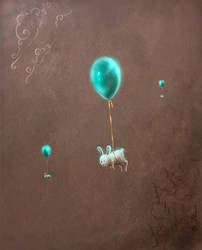 Flying rabbits by Fabera