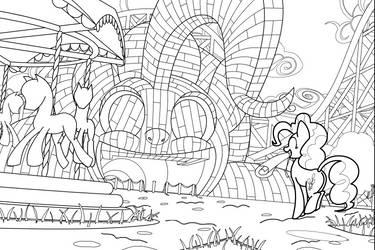 MLP: BoMPP Panel 06 Line Art by FlamingoRich