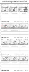 Double Rainboom Part 01 Storyboards by FlamingoRich