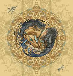 Unicorn into Compass rose by RuaCharl