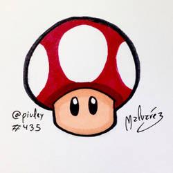 Mushroom from Super Mario by zeravlam