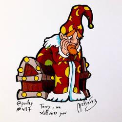 Terry Pratchett In Memoriam by zeravlam