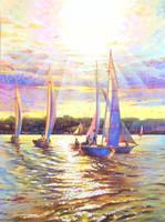 Sailboats by gomezarts