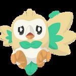 Pokemon - Rowlet (Beel) by PirateGod3D2Y