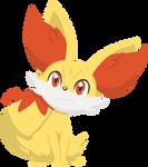 Pokemon - Fennekin by PirateGod3D2Y