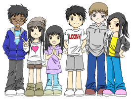 Me and Friends by Al-Shira-Aohoshi