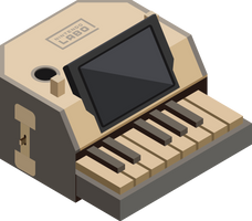 Nintendo LABO Piano Isometric by McMoonTLoZ