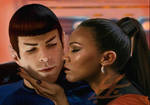 Spock and Uhura by goldenrod1034