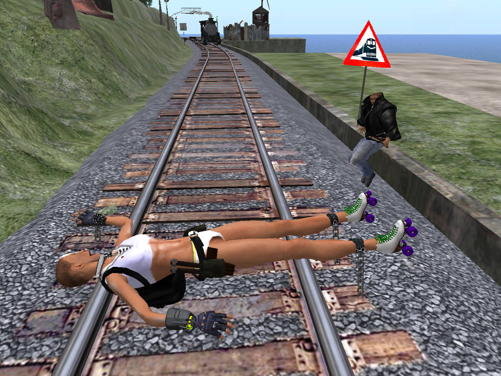 The Classic Tied to the Tracks by Laserskater