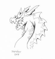 Inktober Day 7: Lagiacrus by hikary-starrysky
