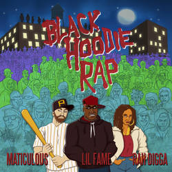 maticulous - Black Hoodie Rap single cover by maxevry