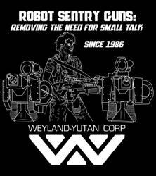 Aliens Ripley Sentry Guns t-shirt by maxevry
