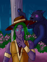 Nightelf sense is Tingling... by lonelion4ever