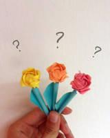 Origami mini roses by Drahoslav7